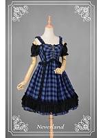 Punk Style Shoulder Open Zipper at Front Lolita JSK - Metallic Mary by Souffle Song