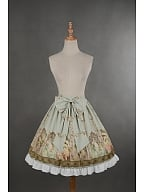 Custom Size Available Natural Waist Bowknot at Front Lolita Skirt - Mucha by Souffle Song