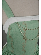 Custom Size Available Gorgeous Pearlnecklace Decorated Back Shirring Lolita JSK - Mucha by Souffle Song