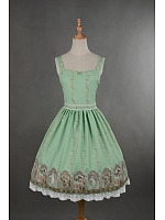 Simple Style Lace Hemline Goddess Printed Lolita JSK - Mucha by Souffle Song