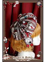 Rabbit & Poker  Printed Lolita Beret - by Infanta