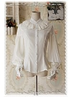 Sweet Chiffon Puffy Long Sleeves Lolita Shirt - Swan Lake by Infanta