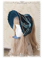 Dark Printed Lolita Bonnet - Swan Lake by Infanta