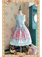 Sweet Strawberry Printed Skirt Lolita JSK - The Strawberry Kitchen Maid by Infanta
