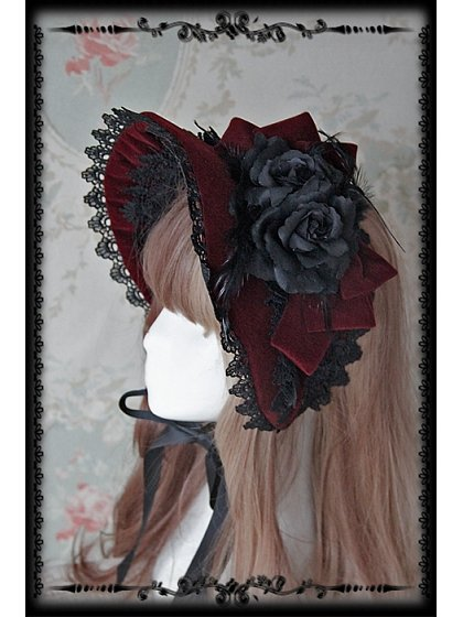 Rose Sanctuary Lolita Bonnet - by Infanta