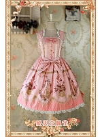 Love and Canary Sweet Lolita JSK with Lace and Bow Decoration - by Infanta