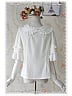 Sweet Trumpet Half Sleeves Lace Decorated Blouse - by Infanta