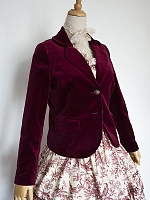 Soft Waxy Cotton Velvet Short Coat by the 69th Department