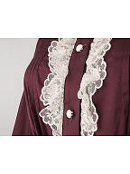 Lace ruffled trimmed blouse by the 69th Department