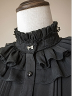 Ruffled High Collar Chiffon Blouse by the 69th Department