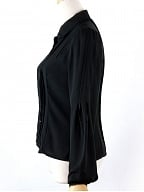 Bishop Sleeves Chiffon Blouse by the 69th Department