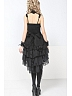 Gothic Dress with Hi-lo Multi-layered Skirt and Narrow Tank Straps - by GLPCLUB