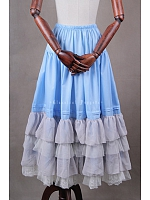 Gorgeous Ankle-length Tiered Pleated Petticoat - by Classical Puppets