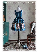 Dark Printed Lolita MiNi JSK - Swan Lake by Infanta