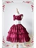 Custom Size Available Ruffled Lace Decorated V-neck Lolita JSK with Layered Skirt with Free Corset - Colorful Fairy Tale by Souffle Song