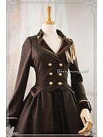 V-neck Coat with Long Open Front Coat - The Snow in Former Days by Surfacespell