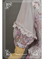 Sweet Scoop Neckline Puff Sleeves OP with Detachable Bow on The Bust - Ancient Clocks by Souffle Song