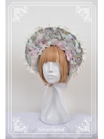 Ancient Clocks Themed Lolita Bonnet - Ancient Clocks by Souffle Song