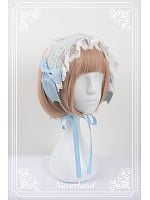 Lace Flounce Hemline Hairband with Bows Decoration - Beckoning Cat by Souffle Song