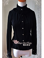 Standing Collar Long Sleeves Thick Chiffon Shirt - Praise of Love by Magic Tea Party