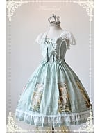 Bows Decorated Lolita OP with Short Lace Sleeves - Summer Maidens by Souffle Song
