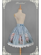 Custom Size Available Flounce Hemline A-line Pleated SK - Summer Maidens by Souffle Song