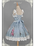 Custom Size Available Open Front Sweet Lolita JSK with Tiered Design at Front Skirt - Summer Maidens by Souffle Song