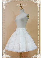 A-line Tiered Pleated Petticoat - by Souffle Song