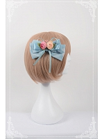 Chinese Walking Cat Themed Lolita Floral Hairclip - Chinese Walking Cat by Souffle Song