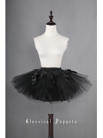 36cm Ballet Style Lolita Multi-layered Petticoat with Bows Decoration - by Classical Puppets