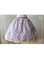 Lolita Skirt with Embroidery Tulle Overlay - by Magic Tea Party