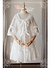 Scoop Neckline Half Sleeves Sheer Lace Over Shirt - Summer Fragrance by Magic Tea Party