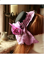 Cross and Censer Themed Lolita Hat - Cross and Censer by Magic Tea Party
