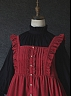 Red Hair Ann Ruffles Shoulder Velvet Apron by Akane Alois