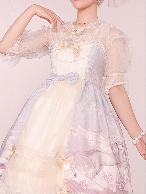 Unicorn Lolita Dress JSK Matching Blouse by Advertising Balloon
