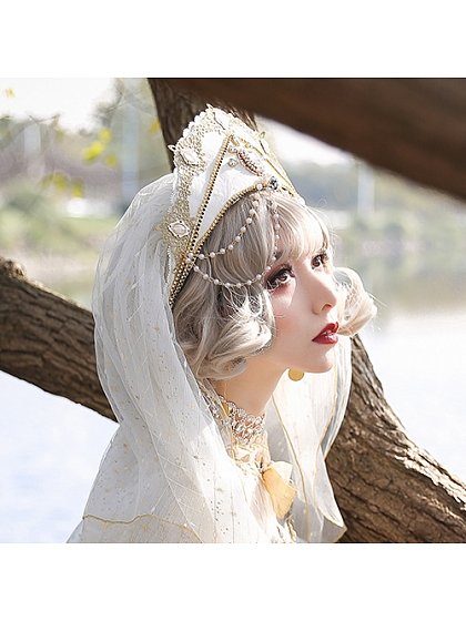 Nightmare at Dawn Flower Wedding Crown by Arcadian Deer Lolita