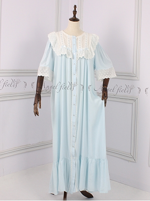 Marta Nightgown Summer Pajamas Lace Dress by Angel fields