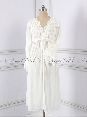 Elegant Nightgown Pajamas Fairy Lace Dress by Angel fields