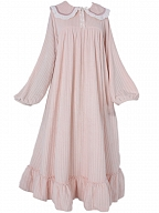 Flannel Vintage Long Sleeves Dress Nightgown by Angel fields