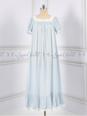 Princess Gemini Girls Square Neckline Vintage Nightgown by Angel fields