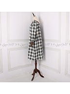 Plaid Long Sleeves Vintage Pajama Dress by Angel fields