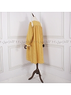 Yellow Long Sleeves Vintage Pajama Dress by Angel fields