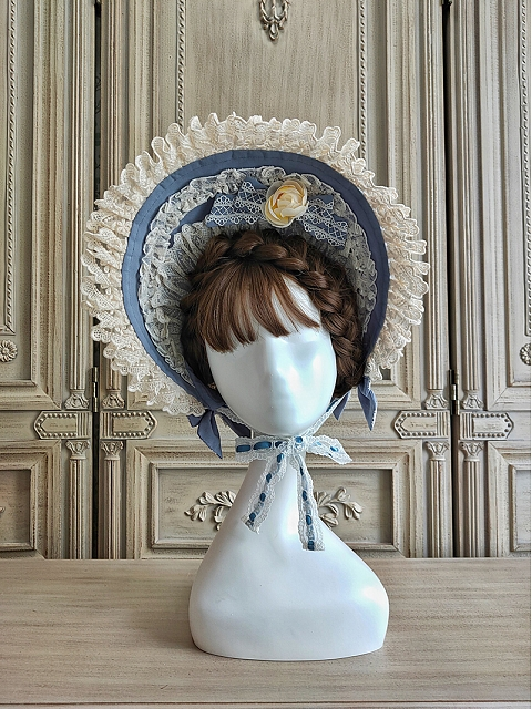 When Camellia Blooms Bonnet and Bowknot tie by Alice Girl