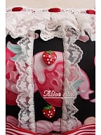 Cream Strawberry JSK with Badge by Alice Girl