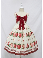 Sweet Big Strawberry Bow JSK by Alice Girl