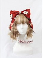 Sweet Big Strawberry Bow Hairclip by Alice Girl
