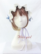 Angel Lace Bow Ribbon Hairband by Alice Girl