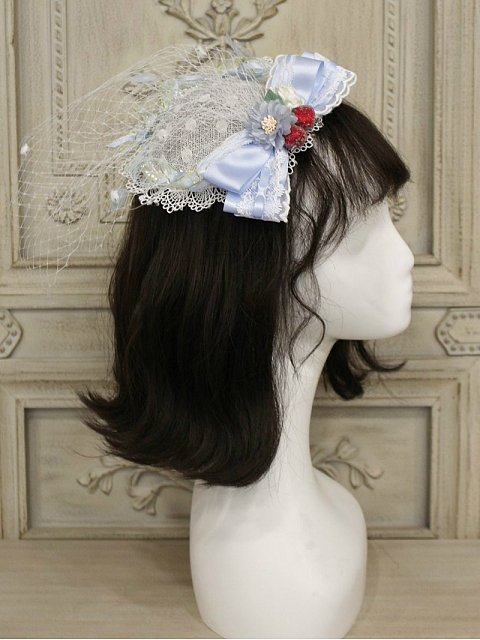 Cherry Plates Matching Decoration Hat by Alice Girl