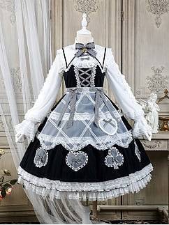 Sweet Alice Series Lolita Dress Matching Tulle Apron by Alice Girl