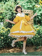 Sweet Sunny Skies Lolita Dress OP Matching Hat by andot's Key